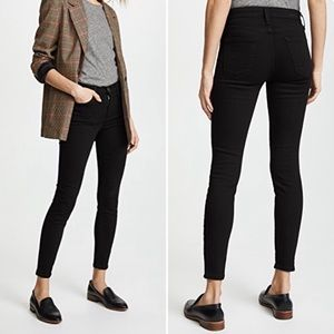 Current/Elliott HighWaist Stiletto Jet Black Jeans